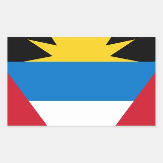 Antigua and Barbuda Flag Rectangular Sticker