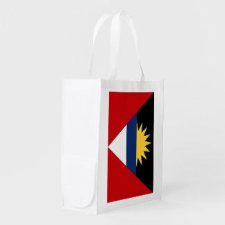 Antigua and Barbuda Flag Reusable Grocery Bag