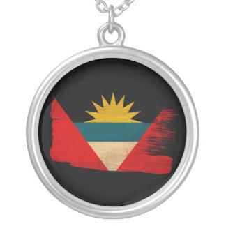 Antigua and Barbuda Flag Round Pendant Necklace