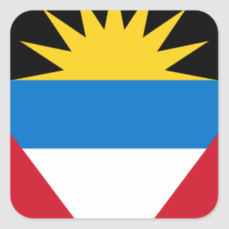 Antigua and Barbuda Flag Square Sticker