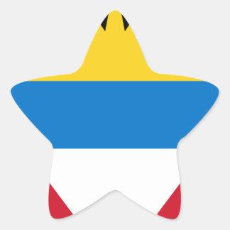 Antigua and Barbuda Flag Star Sticker