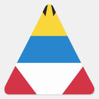Antigua and Barbuda Flag Triangle Sticker