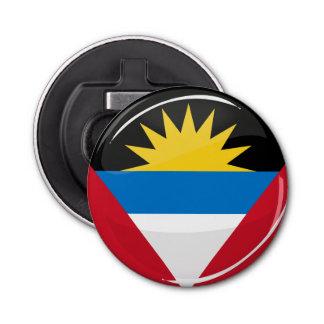 Antigua and Barbuda Glossy Round Flag Bottle Opener
