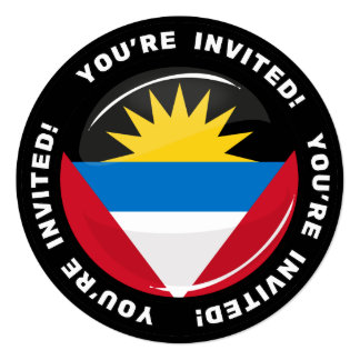 Antigua and Barbuda Glossy Round Flag Card