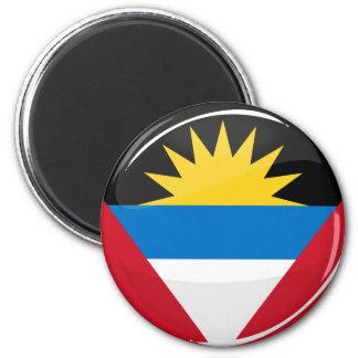 Antigua and Barbuda Glossy Round Flag Magnet