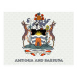 Antigua And Barbuda High Quality Coat of Arms Post Card