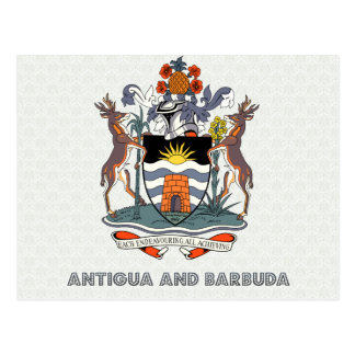 Antigua And Barbuda High Quality Coat of Arms Postcard