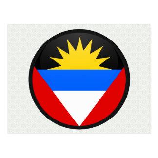 Antigua And Barbuda quality Flag Circle Postcard