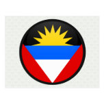 Antigua And Barbuda quality Flag Circle Postcards