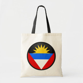Antigua And Barbuda quality Flag Circle Tote Bag