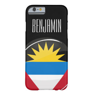 Antigua and Barbuda Round Flag Barely There iPhone 6 Case