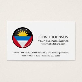 Antigua and Barbuda Round Flag Business Card