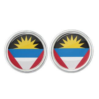Antigua and Barbuda Round Flag Cufflinks