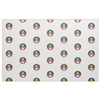 Antigua and Barbuda Round Flag Fabric