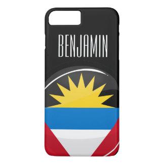 Antigua and Barbuda Round Flag iPhone 8 Plus/7 Plus Case