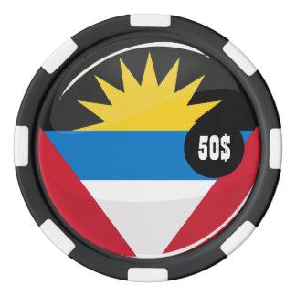 Antigua and Barbuda Round Flag Poker Chip Set