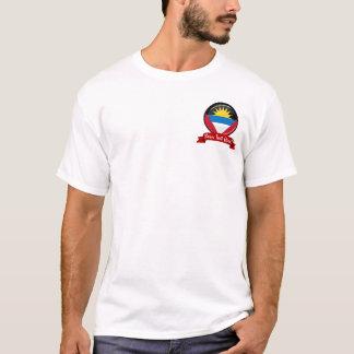 Antigua and Barbuda Round Flag T-Shirt