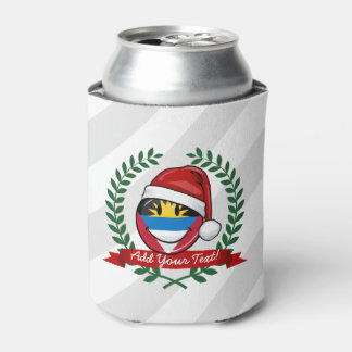Antigua and Barbuda Smiley Christmas Style Can Cooler