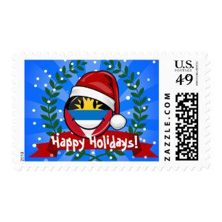 Antigua and Barbuda Smiley Christmas Style Postage