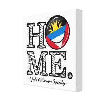 Antigua and Barbuda Smiling Flag Housewarming Canvas Print