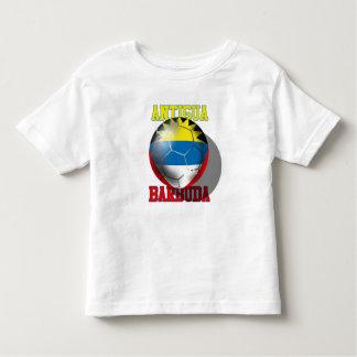 Antigua and barbuda soccer lovers flag ball toddler t-shirt