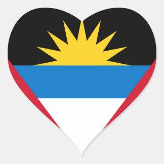 antigua and barbuda heart sticker
