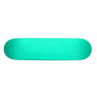 Antigua Aqua Aquamarine Blue Green Tropical Skate Board