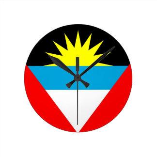 antigua barbuda country flag clock