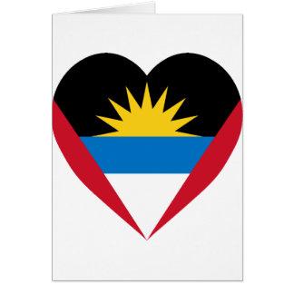 Antigua & Barbuda Flag Heart Card