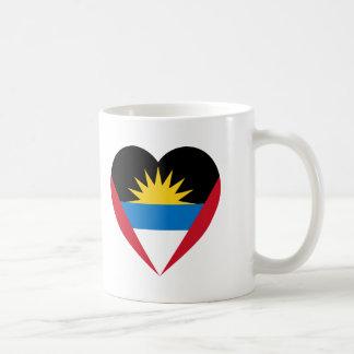 Antigua & Barbuda Flag Heart Coffee Mug