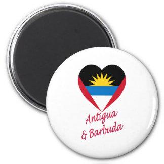 Antigua & Barbuda Flag Heart Magnet