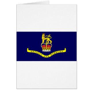 Antigua Barbuda Governor General Flag Card