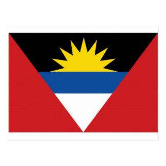 Antigua Barbuda National Flag Postcard