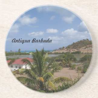 Antigua Barbuda Series--Home With a View Coaster