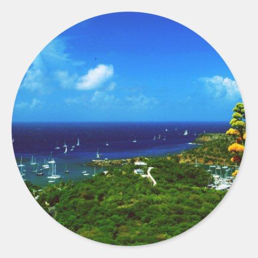Antigua Classic Round Sticker