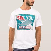 Antigua Dolphin - Retro Vintage Travel