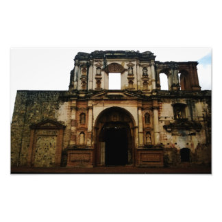 Antigua Guatemala church in ruins photograph.