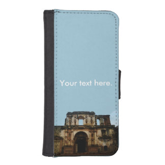 Antigua Guatemala church in ruins photograph. Phone Wallet Cases
