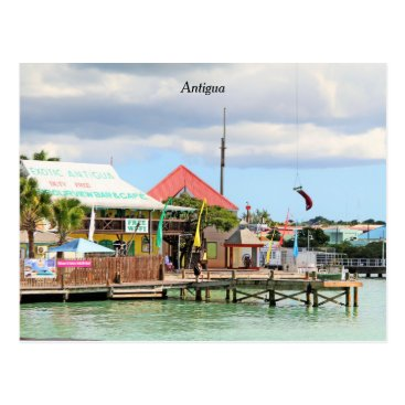 Beach Themed Antigua, Island in the Caribbean Postcard