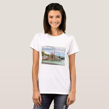 Beach Themed Antigua, Island in the Caribbean T-Shirt