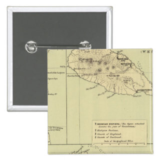 Antigua Lithographed Map Button