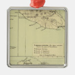 Antigua Lithographed Map Metal Ornament