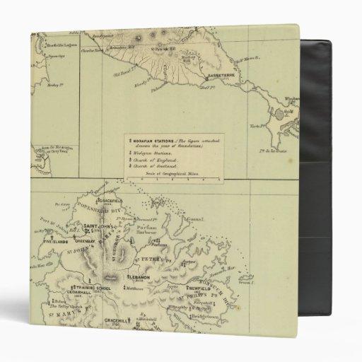 """Antigua litografió el mapa carpeta 1 1/2"""""""