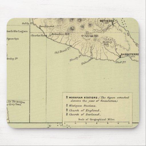 Antigua litografió el mapa tapetes de ratones
