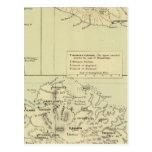 Antigua litografió el mapa tarjetas postales