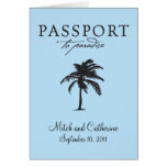 Antigua Passport Wedding Invitation