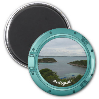 Antigua Porthole 2 Inch Round Magnet