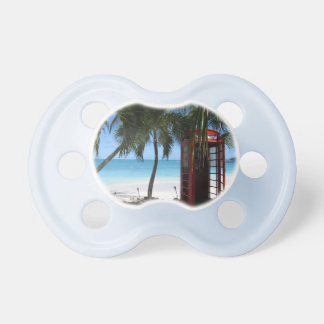 Antigua Red Phone Box HFPHOT13 baby pacifiers