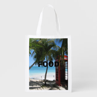Antigua Red Phone Box HFPHOT13 Grocery Bag