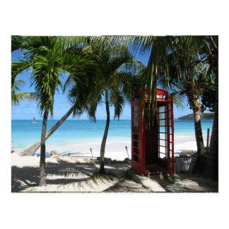 Antigua Red Phone Box HFPHOT13 Postcard